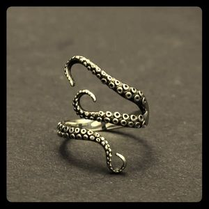 Octopus Tentacle Ring size 7.5 adjustable